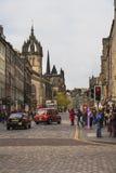 Il miglio reale a Edimburgo, Scozia Fotografie Stock Libere da Diritti