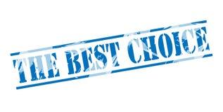 Il migliore bollo blu choice Fotografia Stock