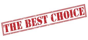 Il migliore bollo rosso choice Fotografia Stock