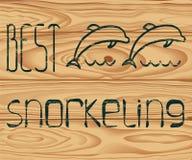 Il migliore immergersi di logo Fotografie Stock