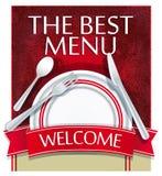 Il migliore menu Immagine Stock