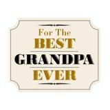 Il migliore nero dell'oro del nonno mai Immagini Stock