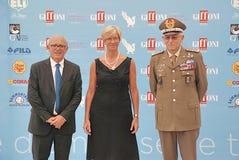 Il Ministro Roberta Pinotti e IL Generale Claudio Graziani al Giffoni Film Festival 2015 Stock Photos