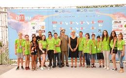 Il Ministro Roberta Pinotti e IL Generale Claudio Graziani al Giffoni Film Festival 2015 Royalty Free Stock Photos