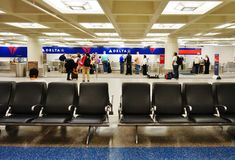 Il Minneapolis-san Paul International Airport (MSP) Fotografia Stock Libera da Diritti