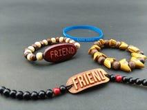 Il mio amico mi ha dato la migliore banda di amicizia il giorno di amicizia Immagini Stock Libere da Diritti