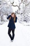 Il mio bello mondo nevoso Immagine Stock