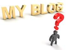 Il mio blog royalty illustrazione gratis
