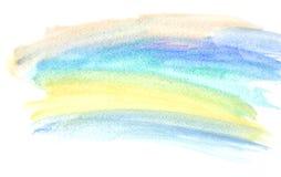 Il mio colpo della pittura di colore di acqua dell'opera d'arte Immagini Stock
