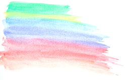 Il mio colpo della pittura di colore di acqua dell'opera d'arte Fotografia Stock Libera da Diritti
