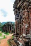 Il mio complesso del tempio del figlio, Vietnam Fotografie Stock