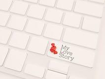 Il mio concetto di storia di amore, 3d rende fotografia stock libera da diritti