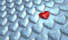 Il mio cuore è il vostro il giorno di questo biglietto di S. Valentino Immagini Stock