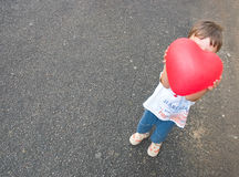 Il mio cuore del piccolo bambino Fotografia Stock