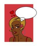 Il mio desiderio del biglietto di S. Valentino - afroamericano Fotografia Stock