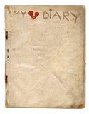 Il mio diario del cuore rotto Fotografia Stock Libera da Diritti