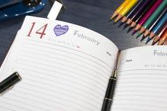 Il mio giorno favorito e felice del ` s del biglietto di S. Valentino! 14 febbraio Fotografie Stock