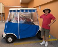 Il mio nuovo carrello di golf Immagine Stock