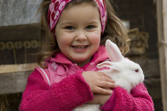 Il mio piccolo coniglio Immagine Stock