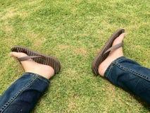 Il mio piede Fotografie Stock