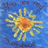 il mio sole voi Immagini Stock