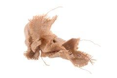 il modello avvitato di struttura tessuto tela di sacco ioslated su backgr bianco fotografia stock libera da diritti