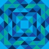 Il modello blu e verde senza cuciture fatto dal triangolo modella Fotografia Stock