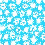 Il modello blu senza cuciture con bianco spruzza ed infiamma royalty illustrazione gratis
