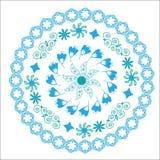 Il modello circolare del blu per vario purp Immagini Stock