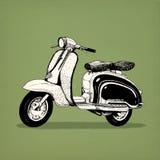 Il modello classico della motocicletta del motorino gradisce la vespa royalty illustrazione gratis