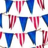 Il modello con le bandiere è come una decorazione festiva per la festa dell'indipendenza illustrazione vettoriale