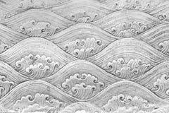 Il modello d'argento tailandese elabora la parete nel tempio della Tailandia Lanna Fotografie Stock