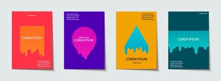 Il modello d'avanguardia ha messo con le forme al neon moderne futuristiche per il manifesto, la copertura, la carta, il broshure royalty illustrazione gratis