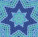 Il modello degli elementi fini sotto forma di stella sei-aguzza Fotografia Stock