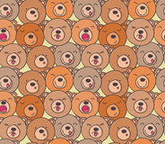Il modello degli orsi divertenti illustrazione vettoriale
