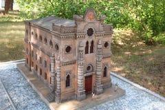 Il modello del kenassa di Simferopoli nel ` Crimea nel ` miniatura nella città di Evpatoria, Crimea del parco Fotografia Stock Libera da Diritti