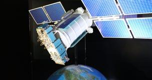 Il modello del satellite del supporto di comunicazione illustrazione vettoriale