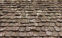 Il modello del vecchio woden il tetto Fotografia Stock Libera da Diritti