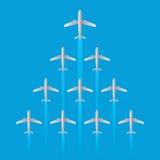 Il modello della freccia di volo del getto dell'aeroplano del capo ha isolato il vettore Fotografie Stock
