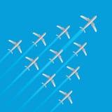 Il modello della freccia di volo del getto dell'aeroplano del capo ha isolato il vettore Immagini Stock Libere da Diritti