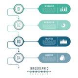 Il modello di cronologia di Infographic può essere utilizzato per il grafico, il diagramma, il web design, la presentazione, la p Immagine Stock