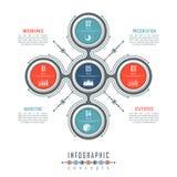 Il modello di cronologia di Infographic può essere utilizzato per il grafico, il diagramma, il web design, la presentazione, la p Fotografia Stock