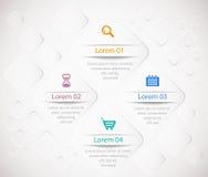 Il modello di Infographic con 3D quadra sulla l astratta Immagini Stock Libere da Diritti