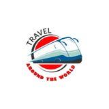 Il modello di logo per il bus visita, agenti di viaggi, società del trasporto uso Immagini Stock Libere da Diritti
