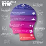 Il modello di progettazione di Infographic può essere utilizzato per la disposizione di flusso di lavoro, diametro illustrazione di stock