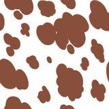 Il modello di struttura della mucca ha ripetuto la nuvola animale della pelle del punto della stampa della giungla del cioccolato Fotografia Stock Libera da Diritti
