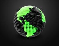 Il modello di terra fatto di colore borda, sfera Fotografie Stock Libere da Diritti