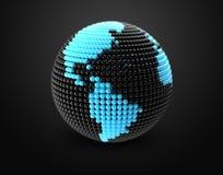 Il modello di terra fatto di colore borda, sfera Immagine Stock Libera da Diritti