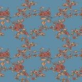 Il modello floreale d'annata senza cuciture è aumentato Immagine Stock