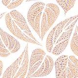 Il modello floreale lascia la farina piastrellata strutturata dell'ornamentale del fondo Fotografia Stock Libera da Diritti